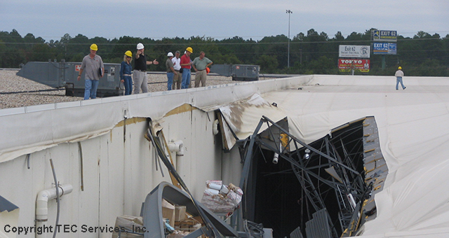 Structural Engineers Consult On Roof Collapse