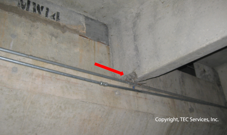 Parking Garage Structural Assessment: Distress at Double Tee Beam Bearing Location