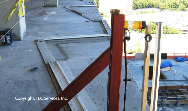 Load Test Handrail Support