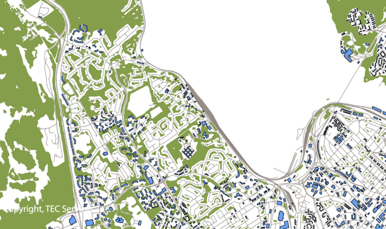 GIS & Mapping Services: Vector City Map