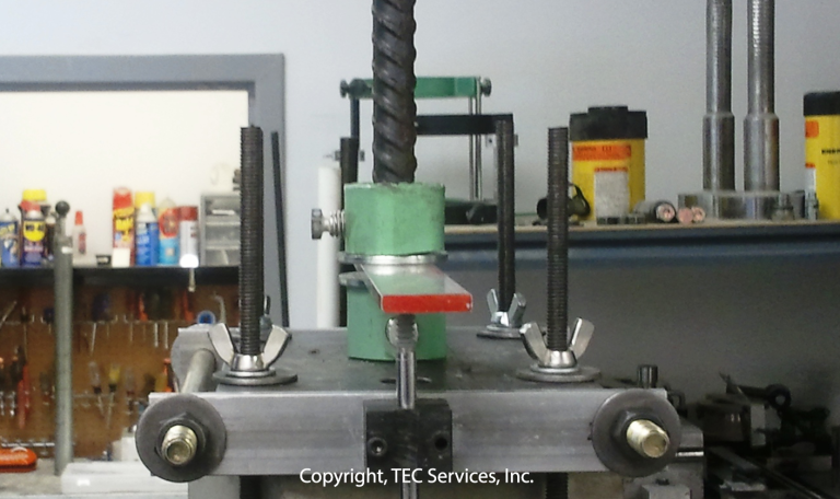 Anchor Systems Rebar Pullout with LVDT Test
