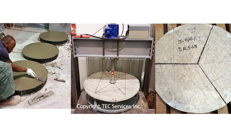 Fiber-Reinforced-Concrete-ASTM C1550 Round Panel Testing